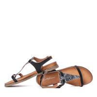 Białe sandały a'la japonki z brokatową ozdobą Finecia Obuwie Royalfashion.pl