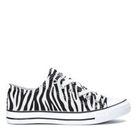 e681427444448 Czarno-białe trampki we wzorze zebry Kathy - Obuwie - Biały ...