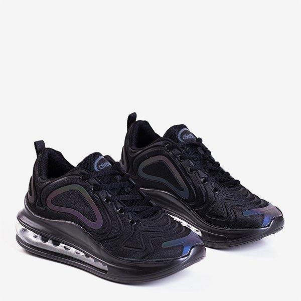 Czarne męskie sportowe buty z przezroczystą podeszwą Aierda - Obuwie