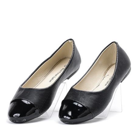 af0acd14 Czarne ażurowe baleriny Alami - Obuwie - Czarny | Royalfashion.pl ...