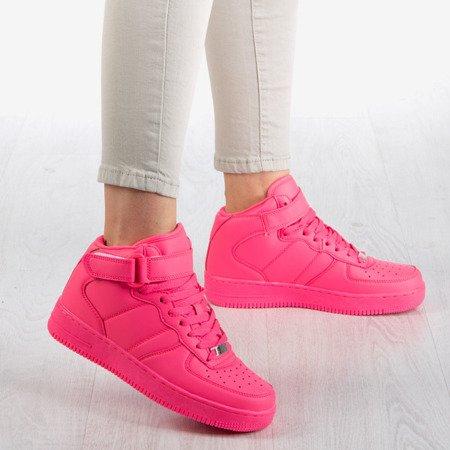 Różowe wysokie buty sportowe na platformie Tiny Dancer